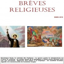BREVES RELIGIEUSES - MARS 2019