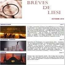 BREVES DE LIESI - OCTOBRE 2019